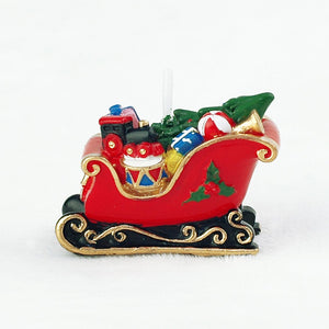 Christmas Candles Sledge Car Cake Topper Candle for Party Supplies