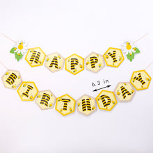 Load image into Gallery viewer, iLikePar Bee Happy Birthday Party Banner