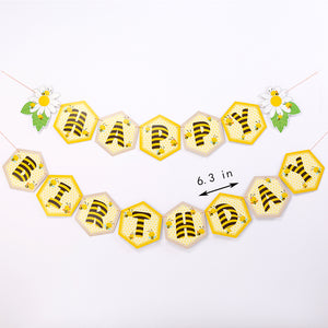 Bee Happy Birthday Party Banner