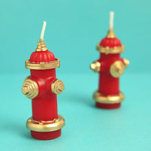 Load image into Gallery viewer, Birthday Candles Fire Hydrant Firefighting Cake Toppers