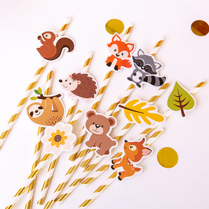iLikePar Animal Theme Paper Straws