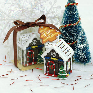 Christmas Cookie House Candle