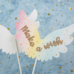 iLikePar Feather Wings Cake topper
