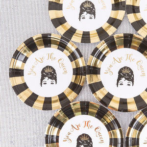 Paper plate set of 10(Queen)