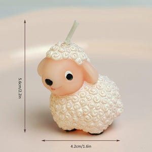 Fluffy Lamb Candle