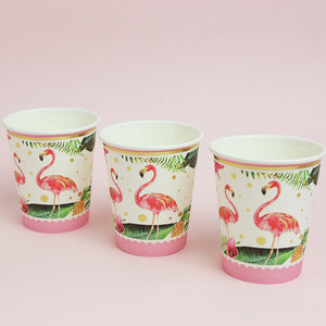 iLikePar Flamingo Party Tableware Set