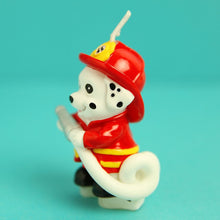 Load image into Gallery viewer, Dalmatian Firefighter Candle