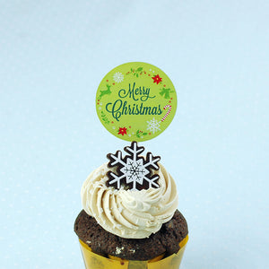 Christmas Cake Topper Cupcake Topper, Birthday Cake Supplies Decorations