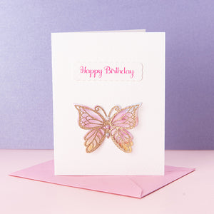 3D Butterfly Birthday Invitation Card