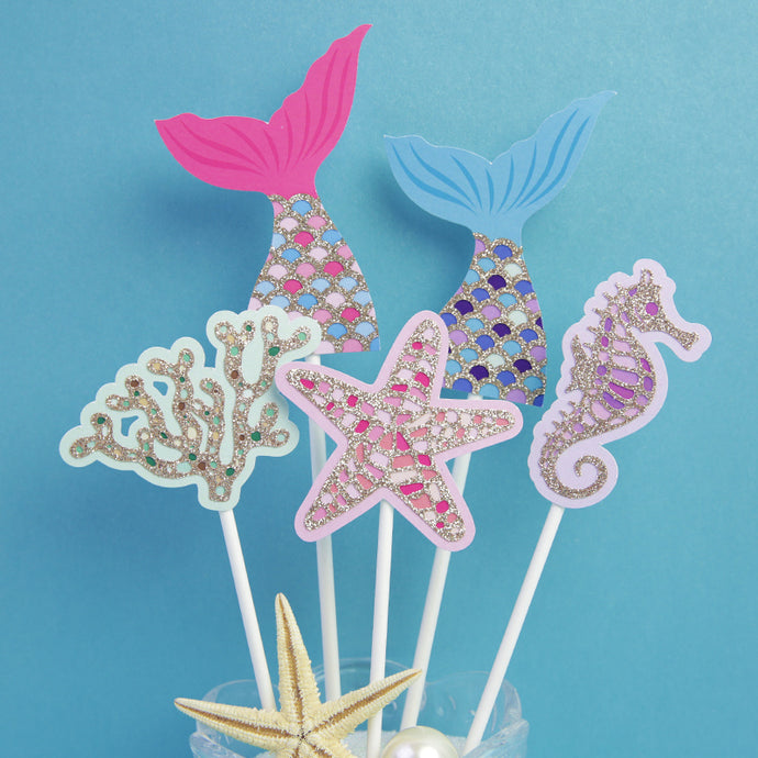 The Ocean Theme Cake toppers