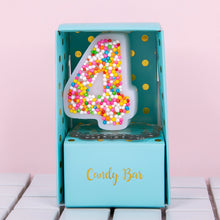 Load image into Gallery viewer, Candy Sprinkles Number Candle