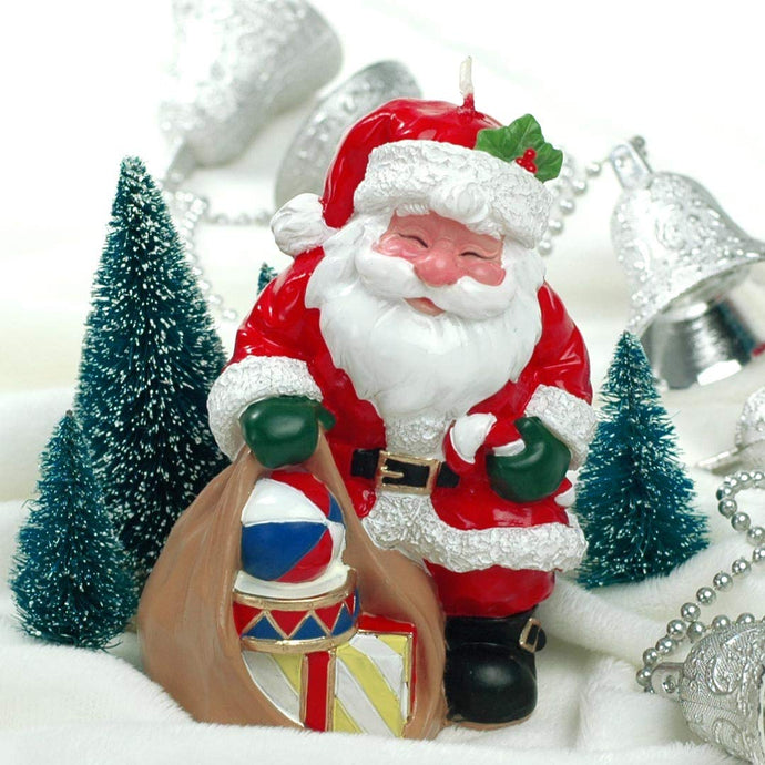Coming Soon Santa With Gifts Candle