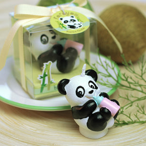 Panda with Baby Bottle Candle