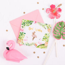 Load image into Gallery viewer, Flamingo Best Wishes Cards