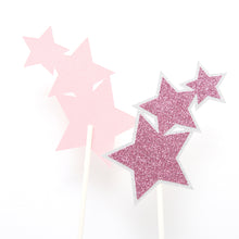Load image into Gallery viewer, Glittery Star Cake Topper