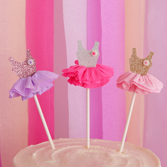 iLikePar Ballerina Dress Cake Topper