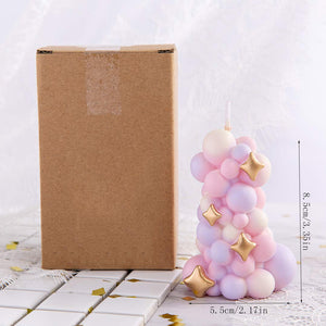Decorative Balloon Stack Candle
