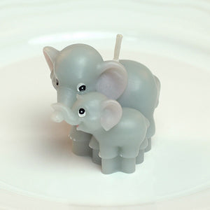 Mom & Baby Elephant Candle
