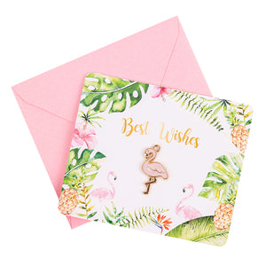 Flamingo Best Wishes Cards