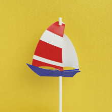 Load image into Gallery viewer, Sailboat Cake Topper
