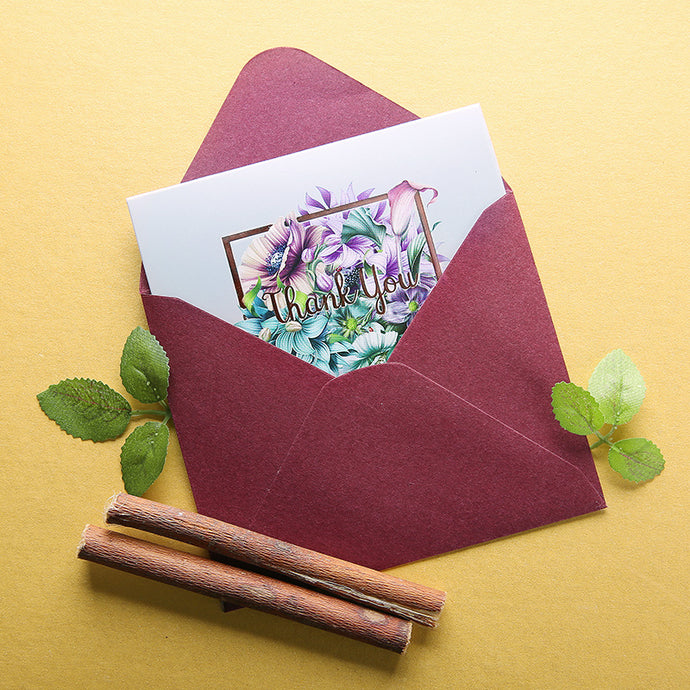iLikePar Floral Thank You Card