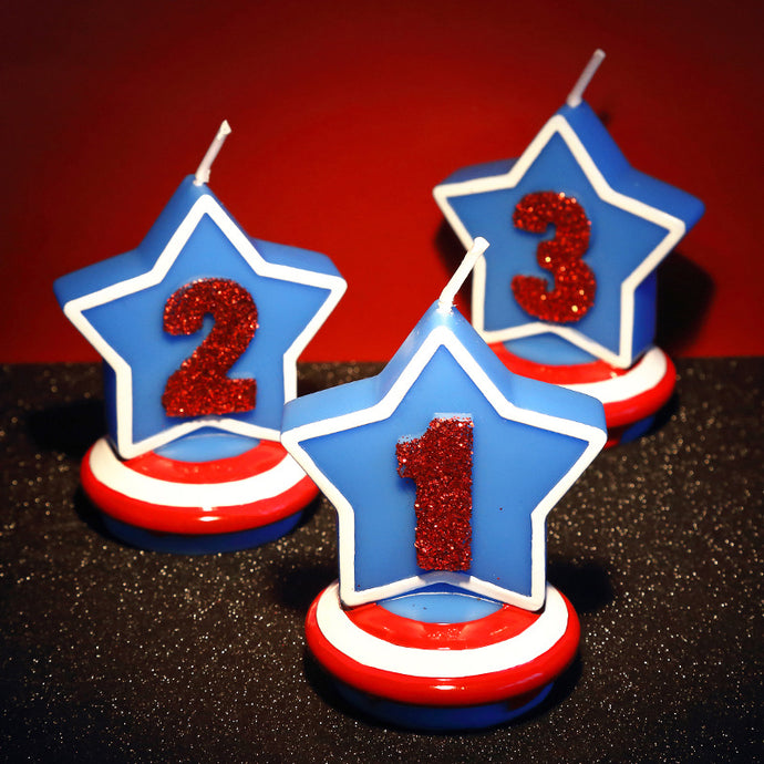 Number Candle Shield five-pointed star FOR Boy
