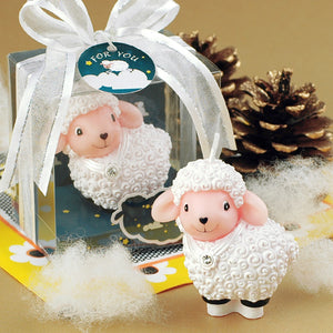 iLikePar Fluffy Lamb Candle