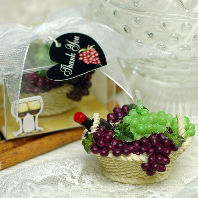 iLikePar Common Red Wine Basket Candle