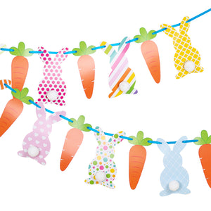 Bunny & Carrot Party Banner