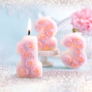 Coming Soon  Roses Number 0-9 Birthday Candle