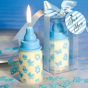 Coming Soon  Birthday Candles Cake Topper Candle for Baby Shower (Blue Bottle)