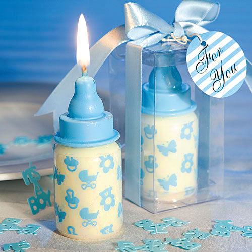 Coming Soon  Blue Baby Bottle Candle