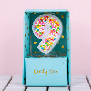 Candy Sprinkles Number Candle