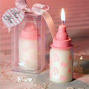 Coming Soon  Pink Baby Bottle Candle