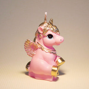 Pink Unicorn Candle