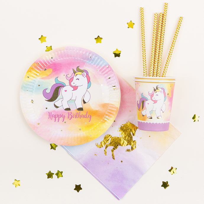Unicorn Birthday Party Tableware Set