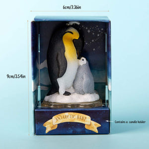 Mom & Baby Penguin Candle