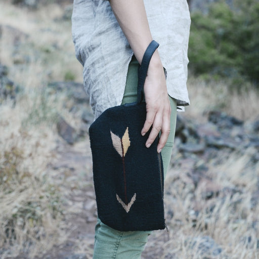 Midnight Arrow Wristlet Clutch
