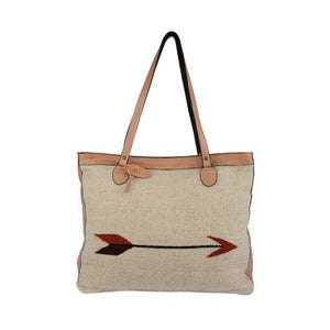 Straight as an Arrow Wool Shoulder Bag
