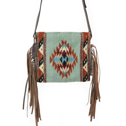 Mints + Diamonds Fringe Bag