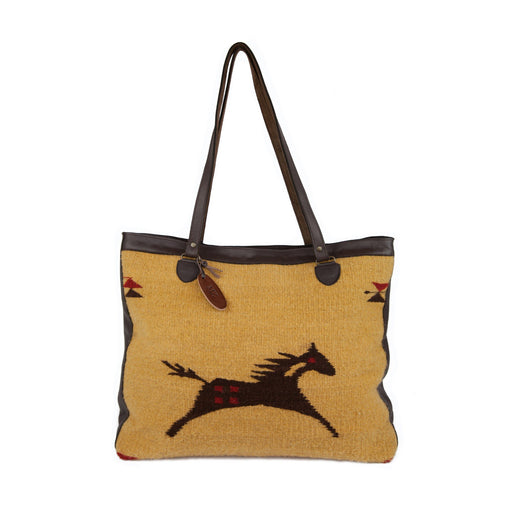 Wild Horses Wool Shoulder Bag