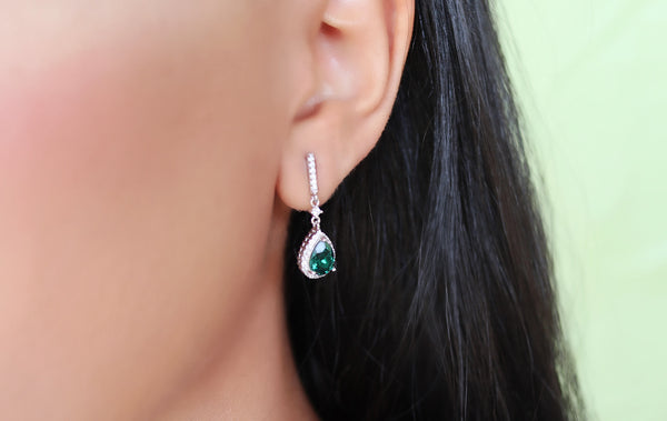 ANU Crystal Emerald Earrings @aankita.b @soenvy.co