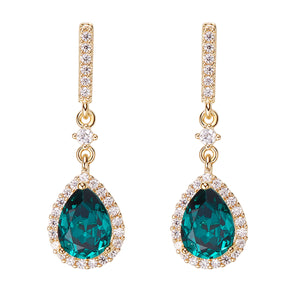ANU Crystal Emerald Earrings 18K-gold @aankita.b @soenvy.co