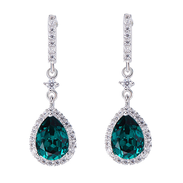 ANU Crystal Emerald Earrings White Gold - @aankita.b @soenvy.co
