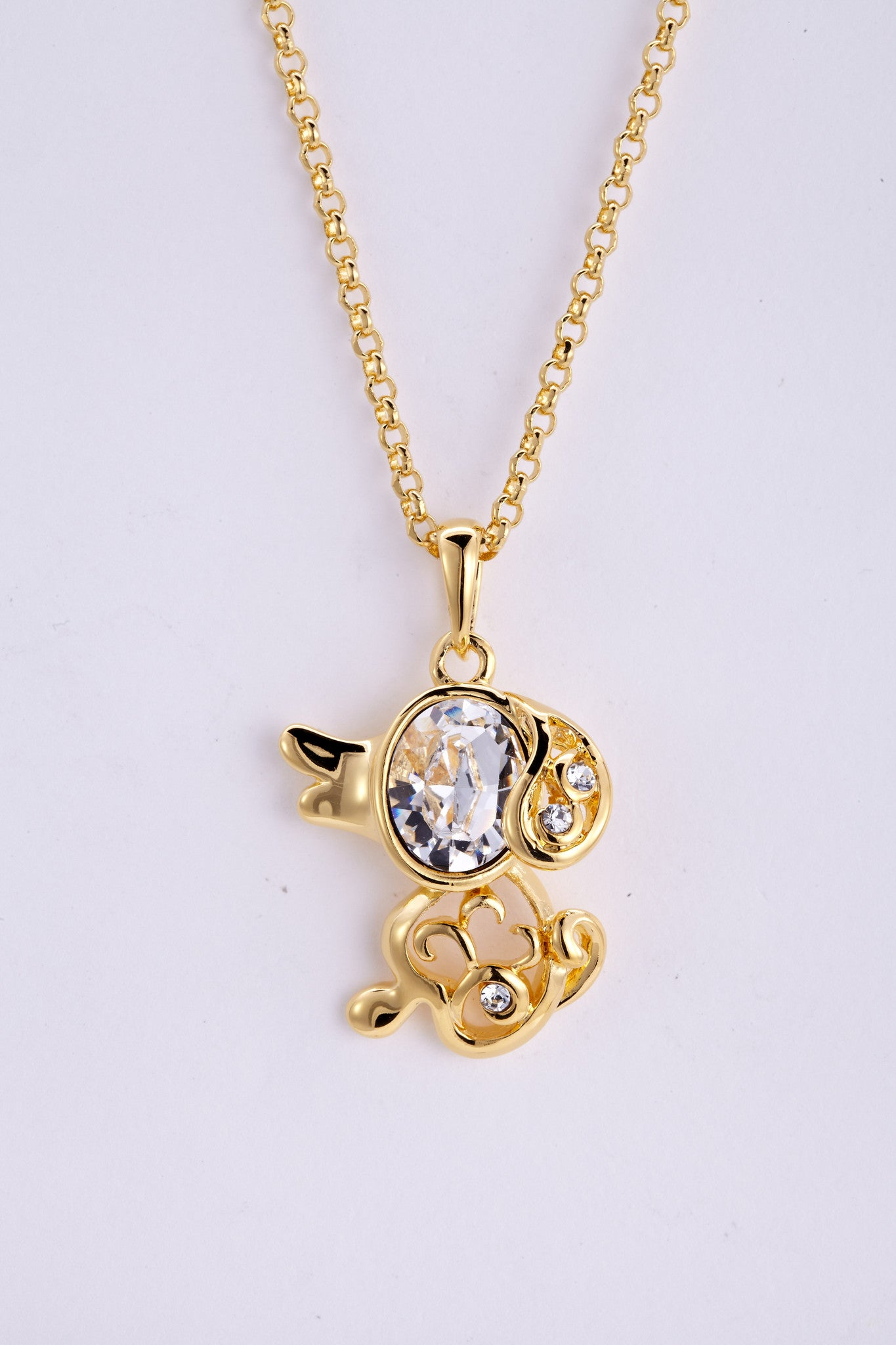 soEnvy Chinese Zodiac Crystal Necklace Collection Dog
