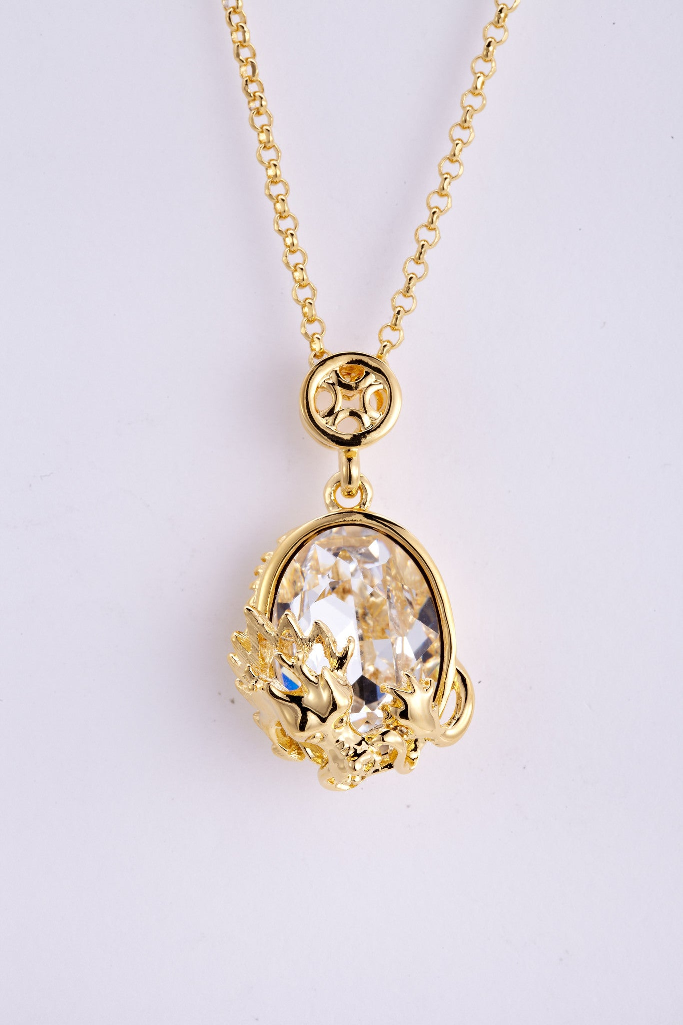 soEnvy Chinese Zodiac Crystal Necklace Collection Dragon
