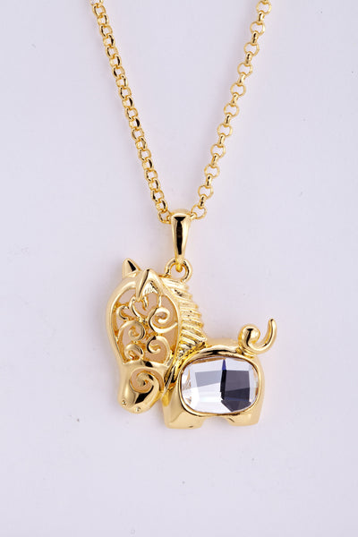 soEnvy Chinese Zodiac Crystal Necklace Collection Horse