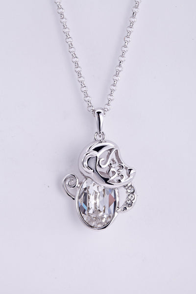 soEnvy Chinese Zodiac Crystal Necklace Collection Monkey