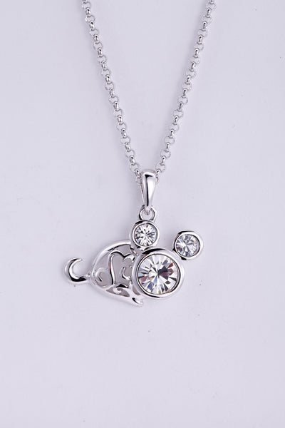soEnvy Chinese Zodiac Crystal Necklace Collection Mouse