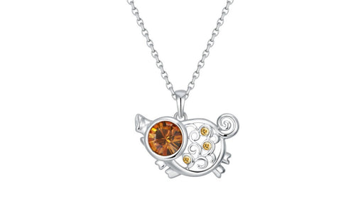 soEnvy Chinese Zodiac Crystal Necklace Collection Pig